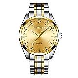 HWCOO Schöne Coole Uhr CHENXI Luminous Quarz-Uhr CX-006A Gold (Color : 3)
