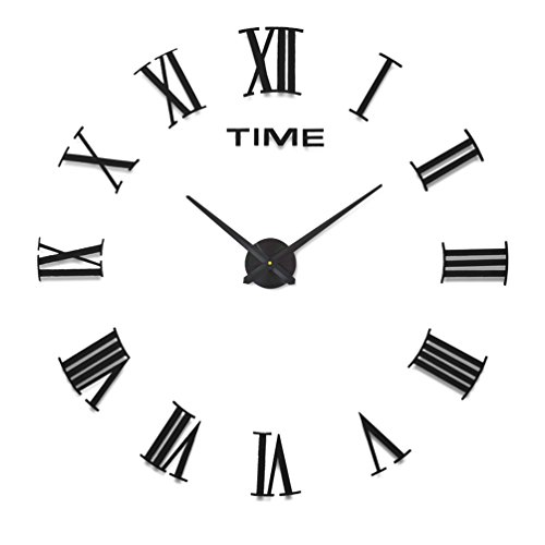 HOME IMPRESSION Multi Style Modern 3D Frameless Large Wall Clock 60 130cm Diameter Decorative Clocks Home Decor DIY Living Room A B 1