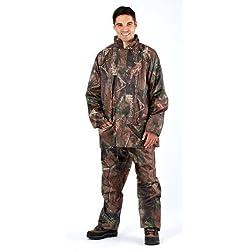 Hombre ProClimate Camuflaje Impermeable Traje Con Capucha Caza Chaqueta Y Pantalones - Camuflaje, Medium