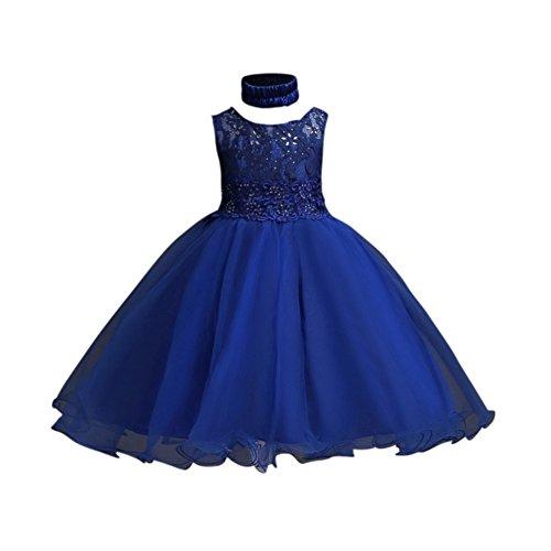 Mädchen ärmellose formale Party Hochzeit Kleid Kinder Brautjungfer Prinzessin Taufe Outfit Alter 2-14 Jahre alt (12 Jahre Mädchen Altes Party-kleid Für)