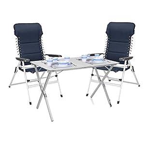 Luxus Camping SET - Alu Campingtisch groß mit Komfort Stühlen leicht & klappbar - einfach zu verstauen!