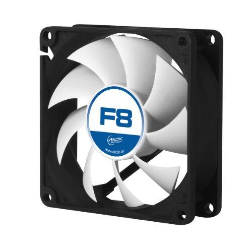 Arctic Cooling F8 - Ventilador para caja de ordenador (600-2000 rpm), negro