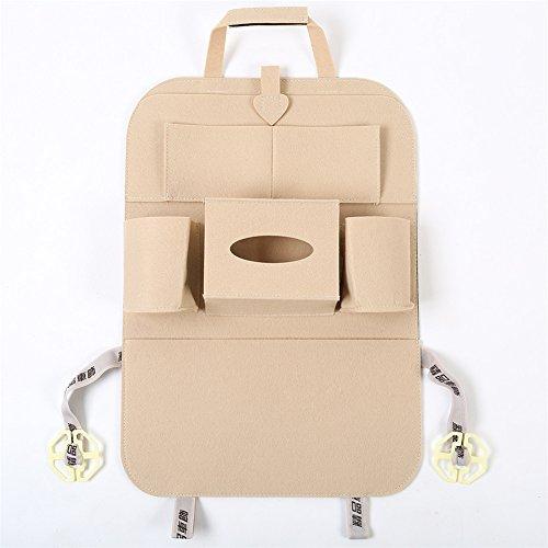 Filz Rückenlehnenschutz Auto Rücksitz Organizer Utensilientasche Sitz Tasche Storage Bag für Kinder