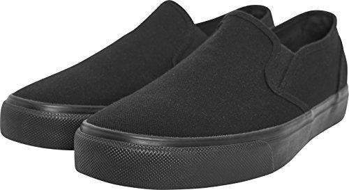 Urban Classics Low Sneaker, Baskets Slip-on Mixte Adulte, Noir blk 00017, 45 EU