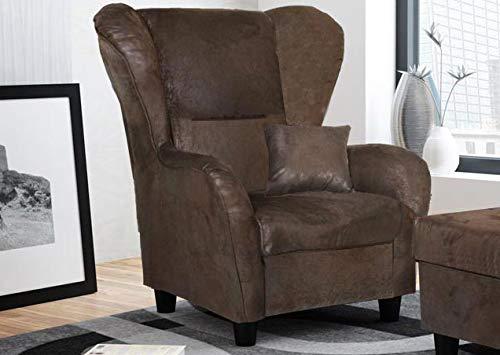 lifestyle4living Ohrensessel in braun im Vintage Look | Der perfekte Sessel für entspannte, Lange Fernseh- und Leseabende. Abschalten und genießen!