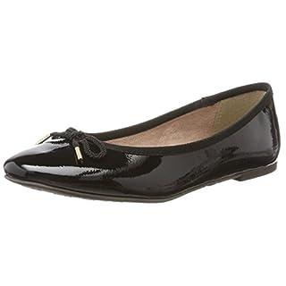 Tamaris Damen 22123 Geschlossene Ballerinas, Schwarz (Black Patent), 40 EU