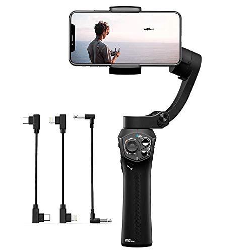 SNOPPA Atom Stabilizzatore Gimbal 3 Assi per Smartphone GoPro Hero 4 5 6, ricarica wireless, presa microfono incorporata,24 ore di autonomia.