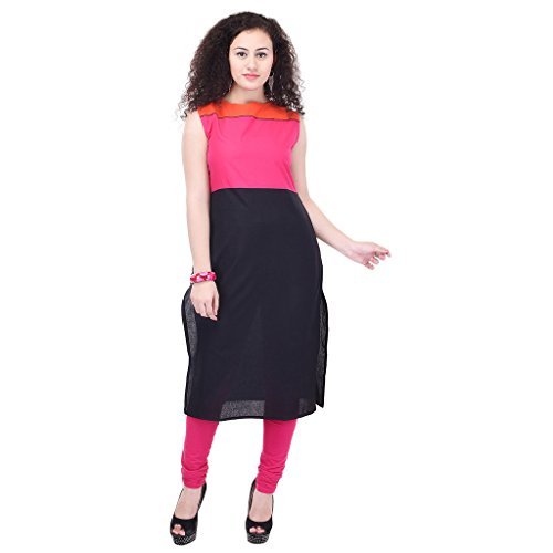 Beautiful Cotton Plain Pink&Orange Color Kurti