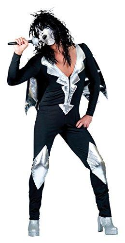 Bristol Jumpsuit im Glam Rock Stil, silber