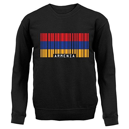 Armenia / Armenien Barcode Flagge - Unisex Pullover/Sweatshirt - Schwarz - XXL