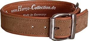 Hundehalsband aus feinstem Leder in vielen Farben von 28-48 cm, Farben:rost, Halsbandgöße:43