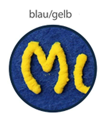 mein-name Schlüsselanhänger Traumhaus aus Filz - Schlüsselband in 9 Farben - Filzanhänger von Hand beschriftet, MN_Farbe:kobalt