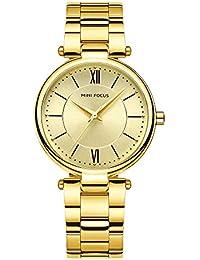 Relojes Pulsera Escala de la Tira Escala del Numeral Romano Relojes Mujer Pulsera de Acero Inoxidable Elegant,…