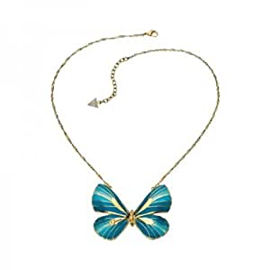 Guess - UBN41312 - Collier Femme - Métal doré - Papillon bleu