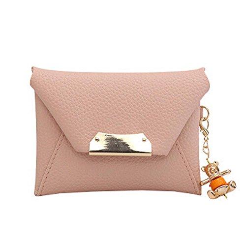Longra Borsa a mano chiave del pendente Ferro Fashion Rosa