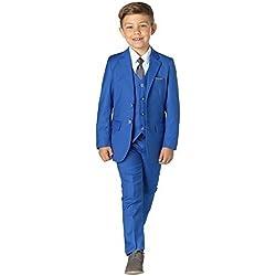 Paisley OF LONDON, niño en Azul Traje, TRAJE CEREMONIA NIÑO, Graduación Trajes, Niños Boda Trajes, 1-13 años - Azul, Azul, 5 years