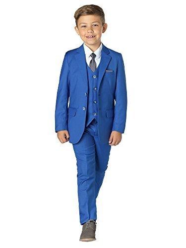 Paisley OF LONDON, niño en Azul Traje, TRAJE CEREMONIA NIÑO, Graduación Trajes, Niños Boda Trajes, 1-13 años - Azul, Azul, 12 years