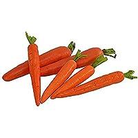 Nubstoer - Juego de 6 Zanahorias Artificiales para decoración del hogar