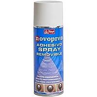 Rayt 1683-61 Novopren Adhesivo en Spray Removible apto para múltiples materiales, limpio y fácil de usar, 400ml