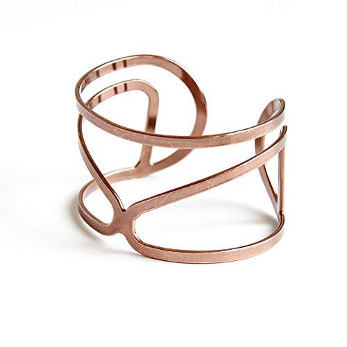 Blingbling_M Schokolade Gold Armband Hohlen Vintage Wind Manschette Armband Verstellbare Armband Geschenk Geschenk, Hypoallergen, Für Ihren Schmuck - Armband Schokolade