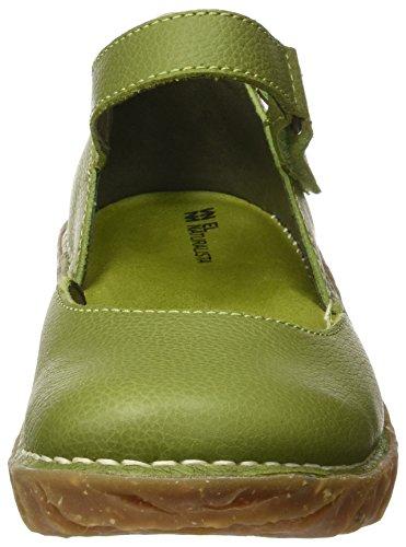 El Naturalista Ng50 Soft Grain Yggdrasil, Escarpins à Bout Fermé Femme Vert (Green)