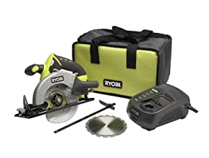 RYOBI 18v CIRCULAR SAW KIT LCS1801 INCLUDING BATTERY , BAG ,GREEN CHARGER,**FREE 150mm TCT BLADE **