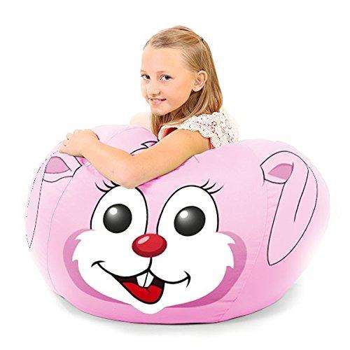 Sitzsack für Kinder, Motiv Ria der Hase (Chenille-bean-bag)