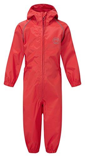 Castle Clothing 323Splash away Childs tuta antipioggia, rosso, taglia 2–3