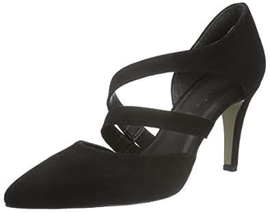 Tamaris Women's 24424 Closed-Toe Pumps, Black (Black 001), 3.5 UK