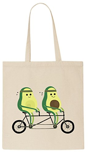 avocado-is-driving-a-bike-bicycle-funny-tote-shopping-bag