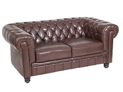 2er-sofa karosteppung braun