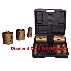 GOWE Box mit Diamant-Bohrkronen, inkl. 11 Trockenbohrkronen und Zubehör.