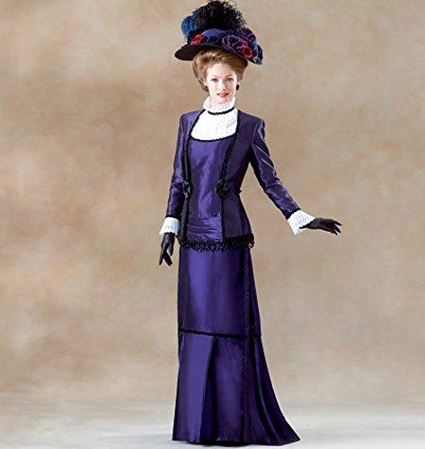 McCall 's Cosplay Damen Schnittmuster 2031historischen viktorianischen Plissee Kleid & Jacke - Plissee-jacke