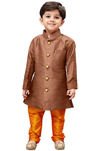 JBN Creation Boys' Sherwani Style Indowestern Kurta Pyjama Set