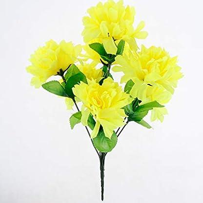 P Prettyia Ramo de Flores de Crisantemo Artificial Cementerio de Seda Adorno para Hogar Suministro de Envoltorio Reserva de Fiesta
