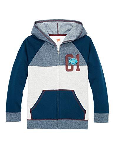 Hanes Boys Graphic Fleece Colorblock Full Zip Hoodie (D266) -Varsity Fo -XS Boys Graphic Fleece
