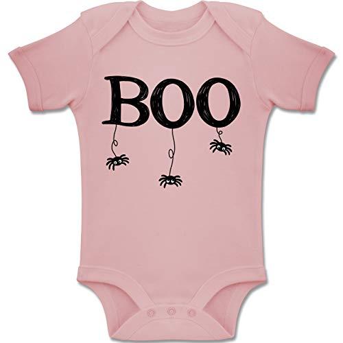 Schwarz Spider Hochwertige Kostüm Mann - Shirtracer Anlässe Baby - Boo mit kleinen Spinnen - schwarz - 1-3 Monate - Babyrosa - BZ10 - Baby Body Kurzarm Jungen Mädchen
