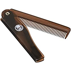 Sir Reginalds Moustache Comb And Beard Comb Small Compact Portable Foldable Pocket Comb - Professional Grooming For Gentleman - 100% SATISFACTION GUARANTEED by Sir Reginalds