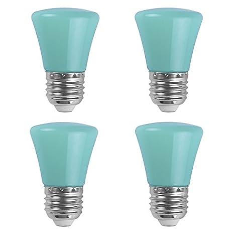 AWELIGHT 4 Stück LED Farbige Leuchtmittel 2W LED Weihnachten Partybeleuchtung farbig Lampe E27 Birne Beleuchtung Glühbirne für Zuhause Dekoration Garten Bar Party KTV Magische Atmosphäre (Grün)