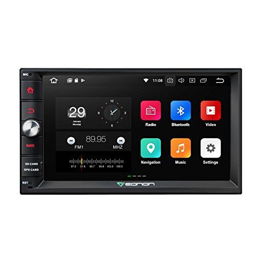 Eonon Android 8.0 Doppel Din Autoradio 2 Din mit GPS Navigation 4GB RAM 7 Zoll 18 cm Bildschirm Touchscreen Bluetooth Freisprechfunktion Stereo WiFi/WLAN DAB+ 3G 4G Fastboot USB Lenkradfernbedienung Eingebauter DSP GA2171S (GA2171S = GA2170 + DSP)