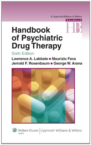 Zoom IMG-1 handbook of psychiatric drug therapy