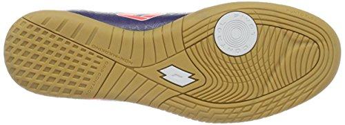 Lotto Lzg Viii 700 ID, Chaussures de Foot Homme Bleu (Blu Twi/Red Fl)