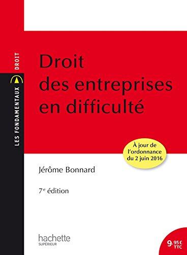 Droit des entreprises en difficult: 7me dition