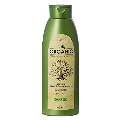 Belita ORGANIC Leichter Haarmilch-Conditioner mit Phytokeratin 500ml, OHNE Farbstoffe, OHNE Parabene, OHNE Silikone