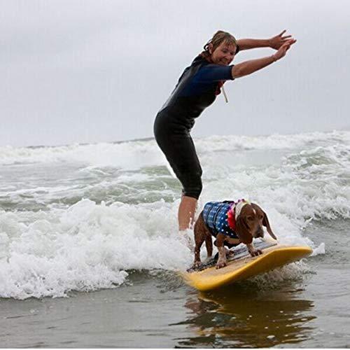 Yaoaomon Pet Dog Life Jacket Safety Clothes Life Vest Swimming Clothes Summer Swimwear Blue XXL Bone Camp Vest