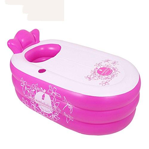 Inflatable bathtub Aufblasbare Badewanne Wanne mizii Thermometer für den Pool, für Erwachsene, Übergröße, 5Farben, 2Größen rose