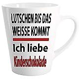 Lustige Sprüche Tasse Latte Becher Weiss