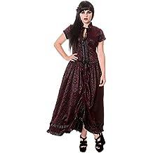 Prohibido Victorian diseño gótico de vampiro de hiedra volantes para niña y vestidos largos negro todos los tamaños