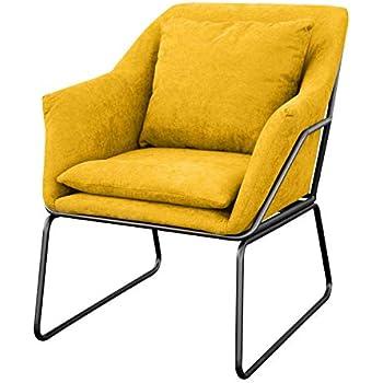 Designer blau//gelb Fernsehsessel Relaxsessel Stoffkissen Sitz Polstersofa Sessel