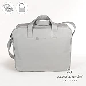 Pasito a pasito–Valise pour la clinique Elodie en cuir synthétique gris